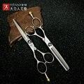 Titan волос комплект ножницы парикмахера Профессиональный 5,5, 6,0 дюймов левша набор ножниц
