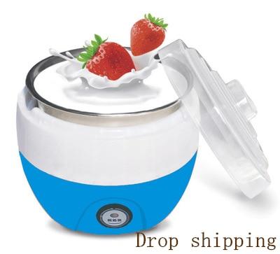 Electric Yogurt Maker DIY Automatic Machine Kitchenware Tools Stainless Steel Yogurt Maker Ice Cream Machine Drop Shipping220V