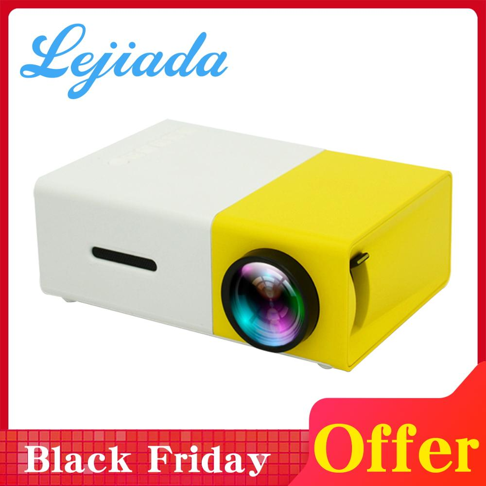 LEJIADA YG300 mini projecteur LED 320x240 Pixels prend en charge 1080P YG-300 HDMI USB 3.5mm Audio projecteur Portable lecteur multimédia à domicile