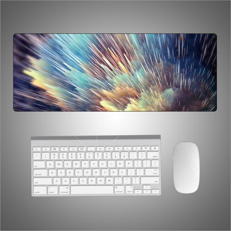 Large Desk Pad Beautiful Soft Natural Rubber Creative Design Series Mice Pad Square Gaming Mouse Pad With Locking Edge