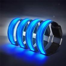 4 шт. светодиодный браслет светящийся браслет защитный светильник спортивный браслет светоотражающие полосы на лодыжке светодиодный мигающий светильник для бега на открытом воздухе#4n18