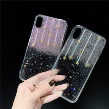 JAMULAR Shining Star Glitter Clear Case For iPhone X XS MAX XR 8 7 6 6s Plus Luxury Sequins Soft TPU Phone Cover Bling Coque Bag
