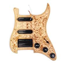 3 ply maple ssh prewired carregado pickguard placa de risco 2 única bobina pickups e humbucker ímã conjunto captadores(China)