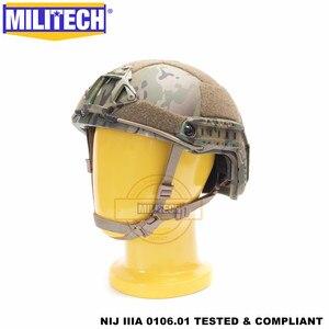 Image 2 - MILITECH Ballistic helmet FAST MC Deluxe Worm Dial NIJ level IIIA 3A High Cut ISO Certified Twaron Bulletproof Helmet DEVGRU