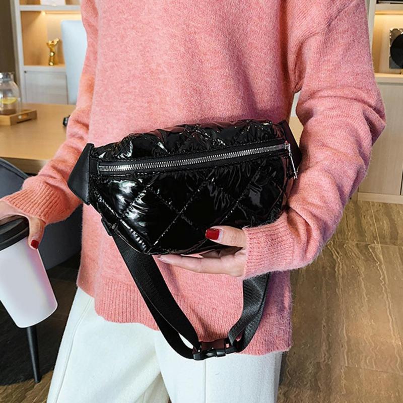 Winter Waist Bag Women Autumn Fashion Fanny Pack Casual Shoulder Crossbody Banana Bag Money Chest Pouch For Ladies Female