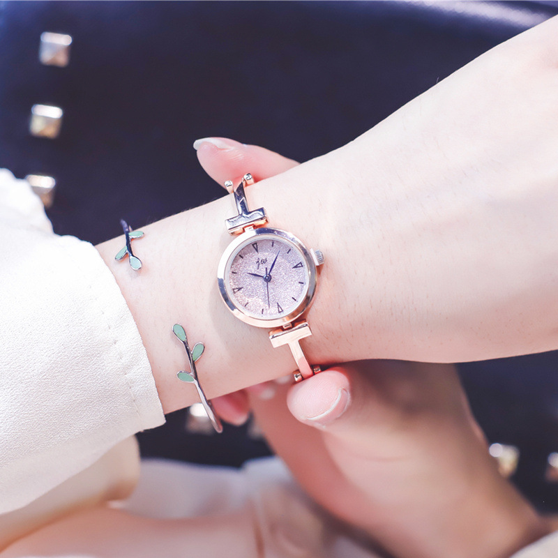 Luxury Starry Sky Dial Women Watches Fashion Small Ladies Bracelet Watch Simple Gold Silver Stainless Steel Quartz Wristwatches