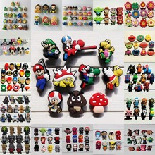 50pcs Avengers Superhero Cartoon Figure Super Mario Mickey PVC Shoe Charms Fit Croc Bands Accessories Kids Gift Party Favors