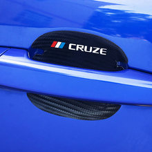 4 шт углеродное волокно автомобильная ручка защита от царапин