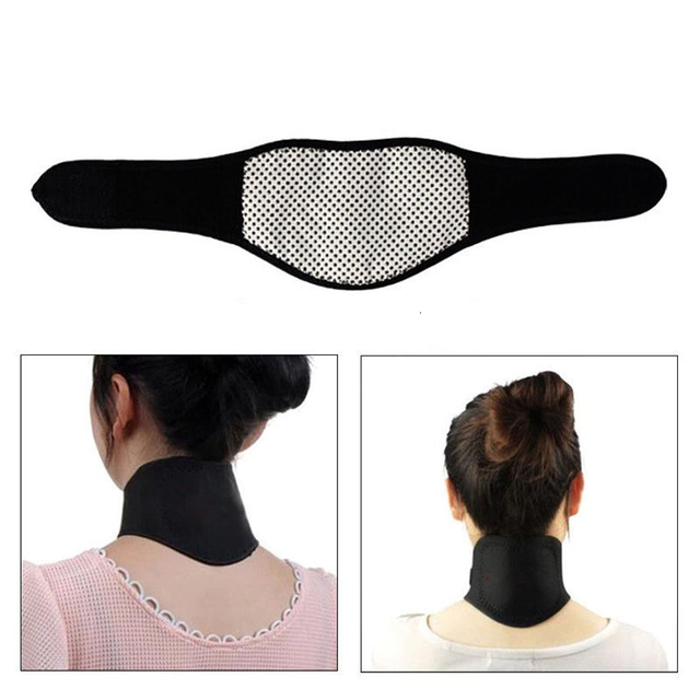 1 PCS Supports Tourmaline Belt Therapy Spontaneous Heating Headache Massager Guard Protector Soft Black Magnetic Neck Braces