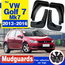 цена на Car Front Rear Mudguards For Volkswagen VW Golf 7 Mk7 2013 2014 2015 2016 2017 Accessories Mudflap Car-styling 1Set 4 Fenders