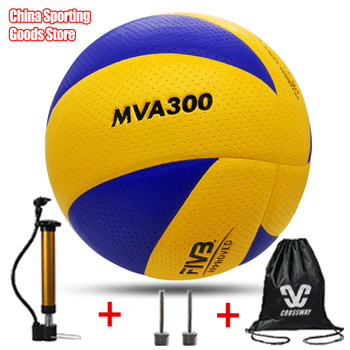 Popular volleyball, mva300, super hard fiber, brand volleyball, competition, size 5, free air pump + air needle + bag classic volleyball mva310 special for training microfiber pu soft volleyball high quality free air pump air needle bag