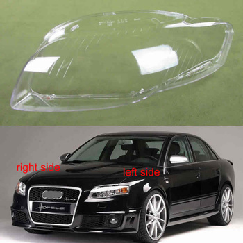For Audi A4 B7 2006 2007 2008 Front Lamp Shade  Lamp Headlight Mask Headlights Shell Lampshade Cover Lens Glass