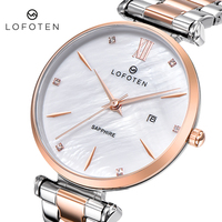 Fashion Ladies Stainless Steel Rose Gold Sapphire Water Proof womens Quartz Watch dress Watches Top Brand Luxury Wristwatches