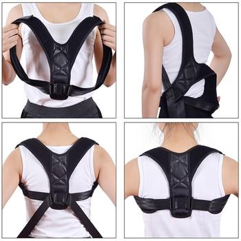 Posture Corrector Adjustable Back Brace Support Belt Clavicle Correction