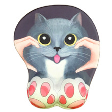Holeke Anime 3D Mouse Pad Ergonomic Soft Silicon Gel Gaming Mousepad with Wrist Support Cute Cat Mouse Mat For Girls 10.2x8.5 anime 3d mouse pad ergonomic soft silicon gel gaming mousepad with wrist support cute cat mouse mat for girls 10 2x8 5