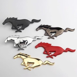 Image 2 - For Ford Mustang Shelby GT 3D high quality Metal Running Horse Sticker car decoration body car stickers accessories.
