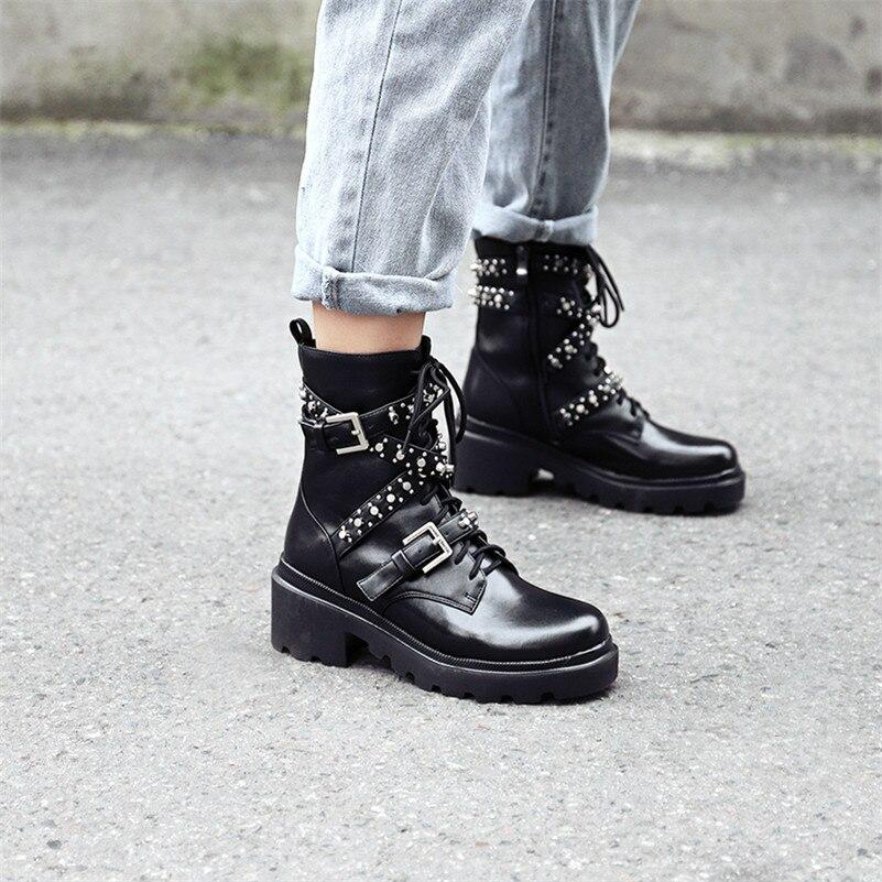 Женская обувь из нубука и искусственной кожи; большие размеры; ботильоны на платформе с бахромой; женские зимние ботильоны с пряжкой; цвет к... - 5