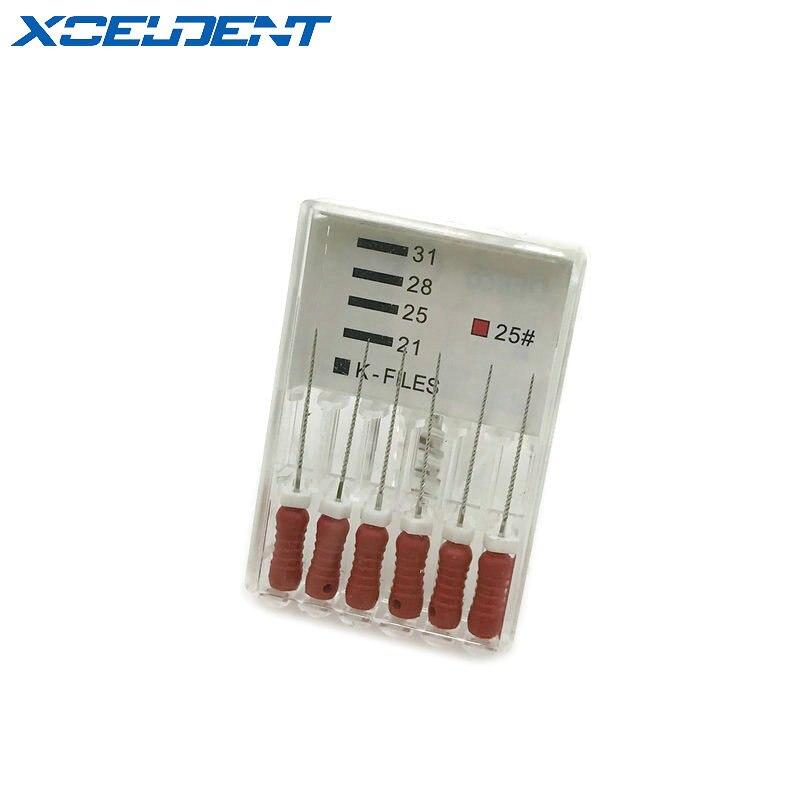 6 шт./компл. Эндодонтический корневой канал K Файлы (Ручное использование) стоматологический k-файл 21 мм ручное использование файлов Эндодонт...