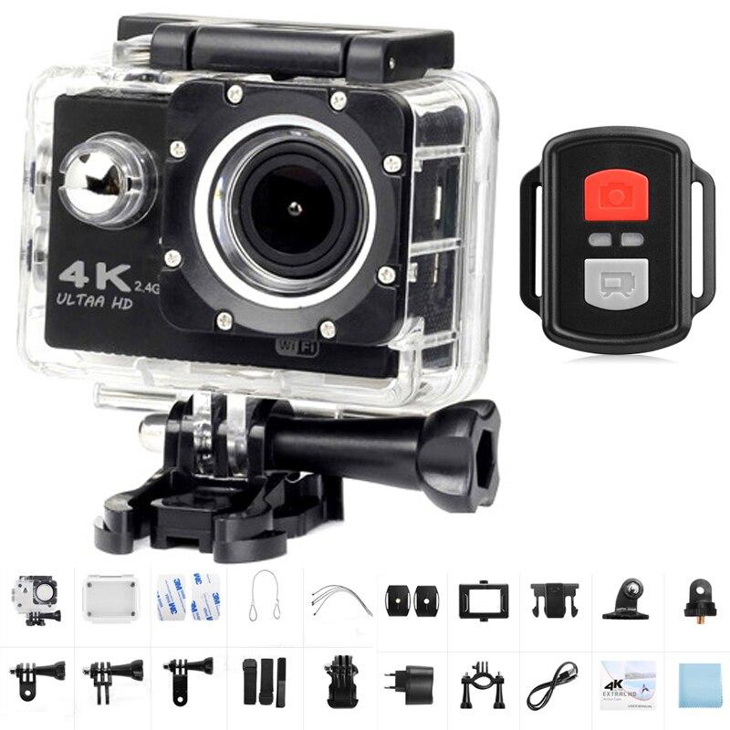 Caméra d'action Ultra HD 4K WiFi 170D grand Angle télécommande Sport caméra étanche Pro casque vidéo enregistrement caméra voyage Vlog