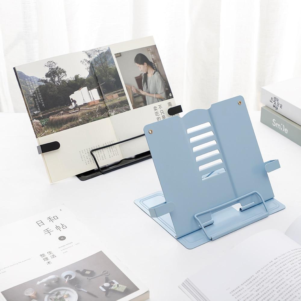 Desktop Student  Portable Metal Adjustable Foldable Reading Book Holder Support Document Shelf Bookstand Rack Tablet Music
