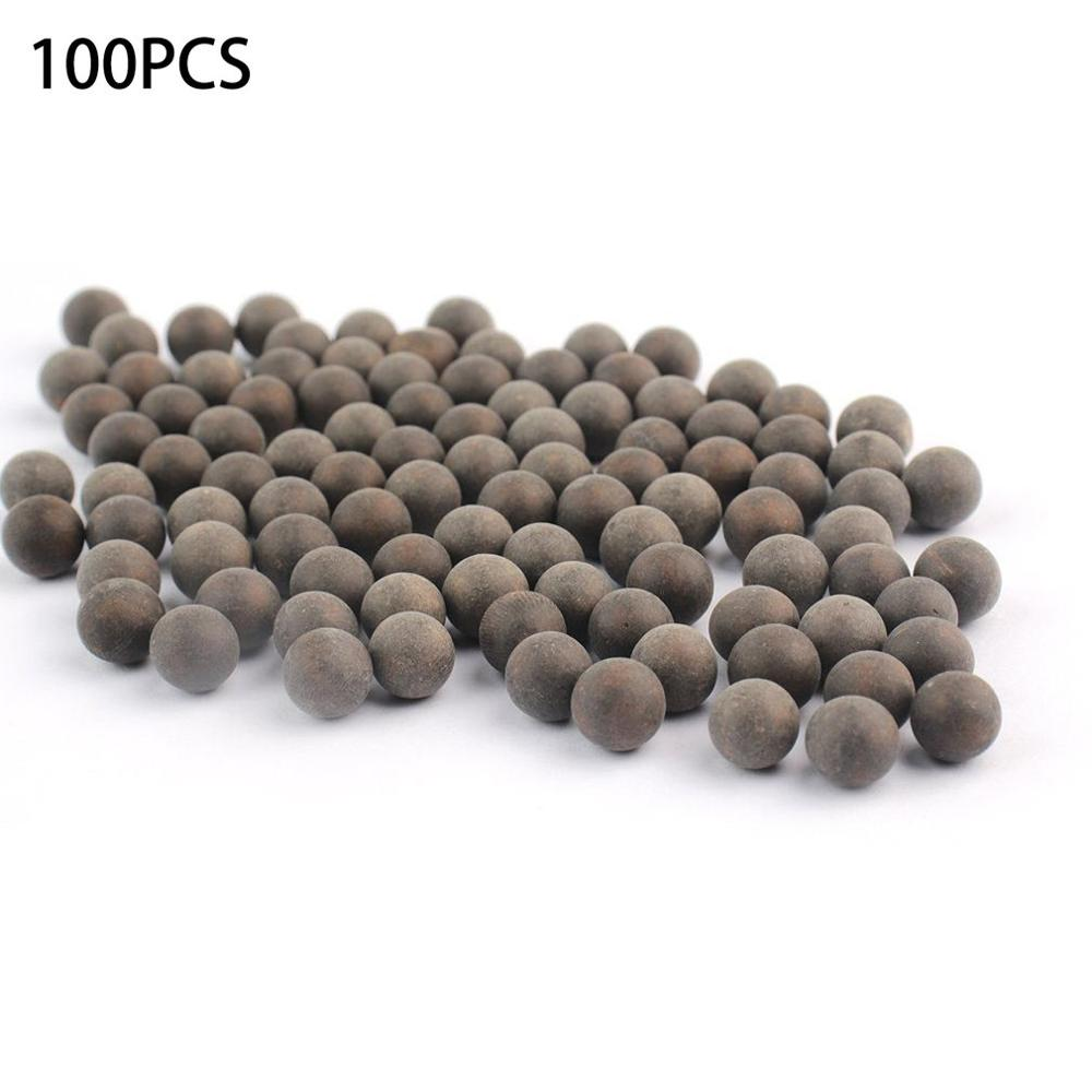 100pcs 8mm Slingshot Beads Bearing Mud Balls Safety Non-toxic Slingshot Ammo Solid Clay Balls For Outdoor Hunting Shooting NEW
