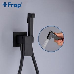 Image 3 - Frap matowy czarny do bidetu i prysznica kran z mosiądzu bateria bidetowa muzułmanin Ducha Higienica Mixer Tap baterie toaletowe Y50060/1