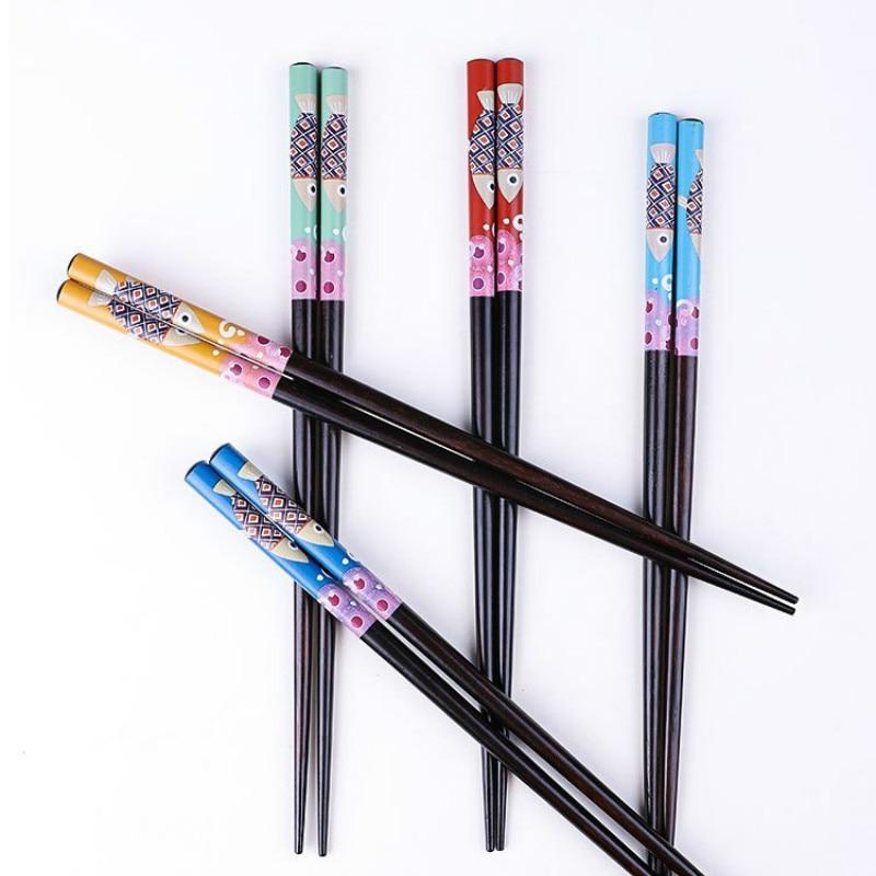 New small fish chopsticks japanese style diamond wood thermal