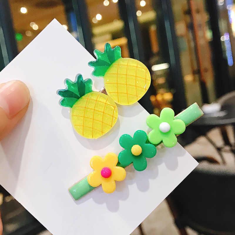 חמוד פירות פרח צבעים בוהקים בנות סיכות שיער קליפ ילדים & נשים מתוק קריקטורה בארה 'ב אביזרי ילדי תינוק BB קליפים
