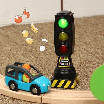 Śpiewanie ruchu lekka zabawka sygnalizacja świetlna Model znak drogowy nadaje się do pociągu Brio K1MA tanie i dobre opinie OOTDTY Z tworzywa sztucznego CN (pochodzenie) 2-4 lat Diecast 3 x AG13 button cell batteries(included)