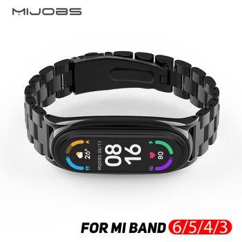 Strap for Mi Band 6 Strap for Xiaomi Mi Band 4 Strap for Mi Band 5 Metal NFC MiBand 4 Miband 3 Global Bracelet Wristband 1