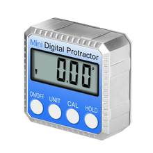 SOLLED 360 Gradi Mini Digital Inclinometro Livello Elettronico Goniometro Angolo di Righello di Misurazione Gauge Meter Finder con il Magnete