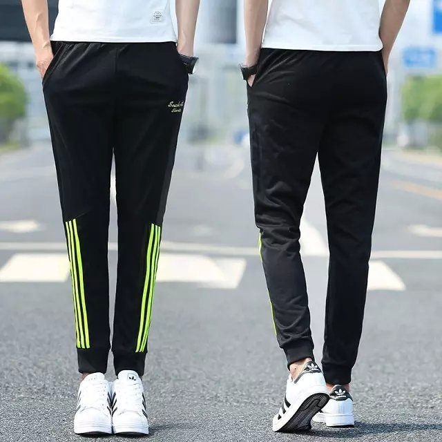 Harem Pants Men's Europe And America Closing Foot Ankle Banded Pants Slim Fit Skinny Pants Athletic Pants Sweatpants Spring