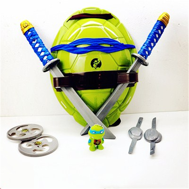 Ninja Tortoise Weapon COS Dressed Suit Turtle Shell Eye Mask To Give Toddler Child Ninja Turtle Cool Funny  Children's Toys