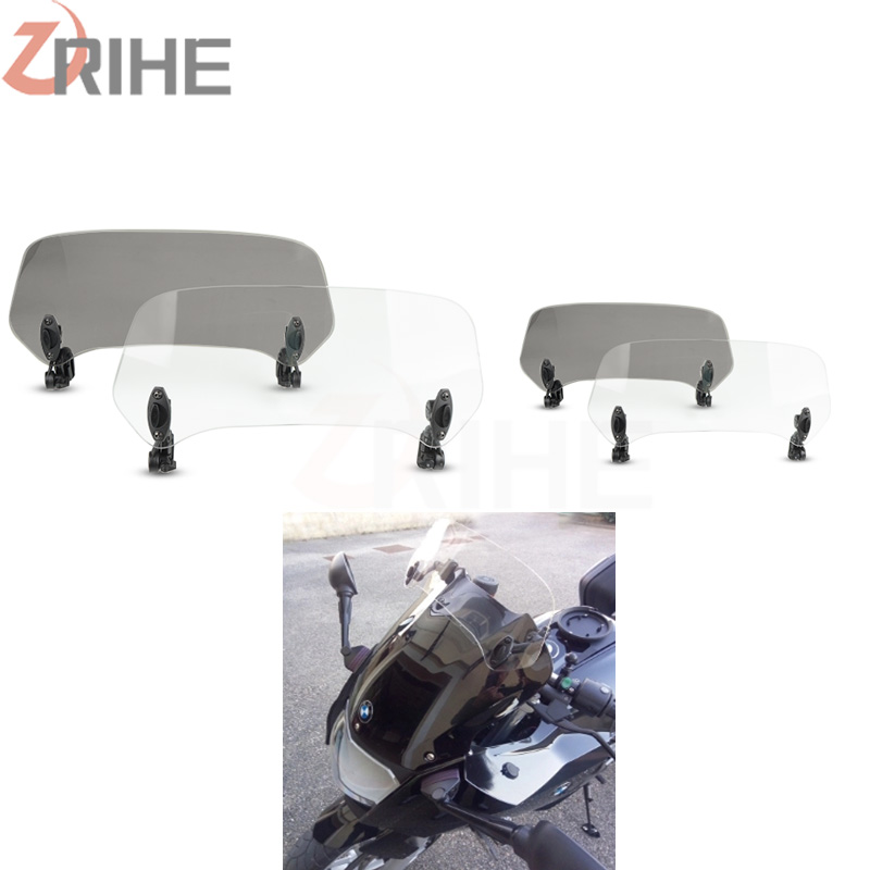 Wind Deflector motorcycle Universal <font><b>Windshield</b></font> Risen Adjustable Motobike Windscreens For BMW Honda Kawasaki <font><b>Yamaha</b></font> <font><b>nmax</b></font> 155 image