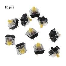 10 шт механическая клавиатура gateron mx 3 контактный желтый