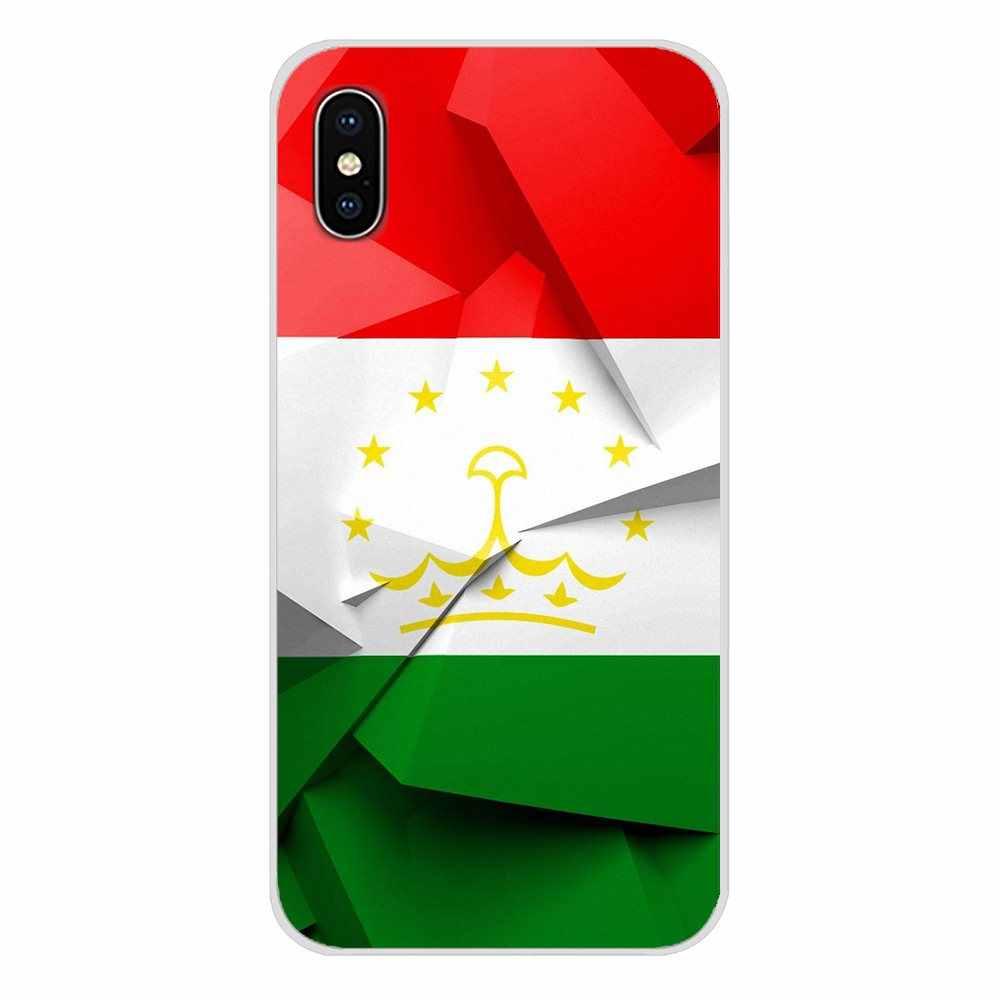 Para Huawei G7 G8 P7 P8 P9 P10 P20 P30 Lite Mini Pro P Smart Plus 2017 de 2018, 2019, Tayikistán cubiertas suaves transparentes de la bandera nacional