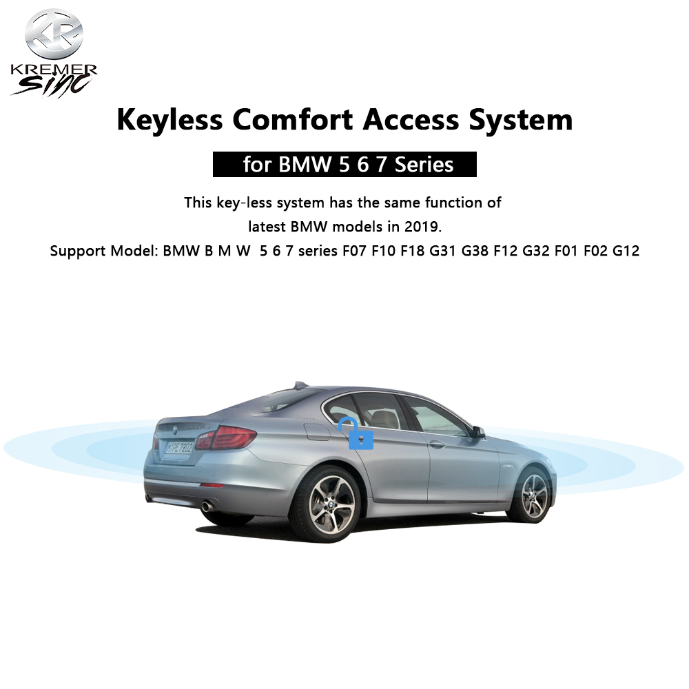 Free Shipping aftermarket Keyless Comfort Access for B M W 5 6 7 series F07 F10 F18 G31 G38 F12 G32 F01 F02 G12