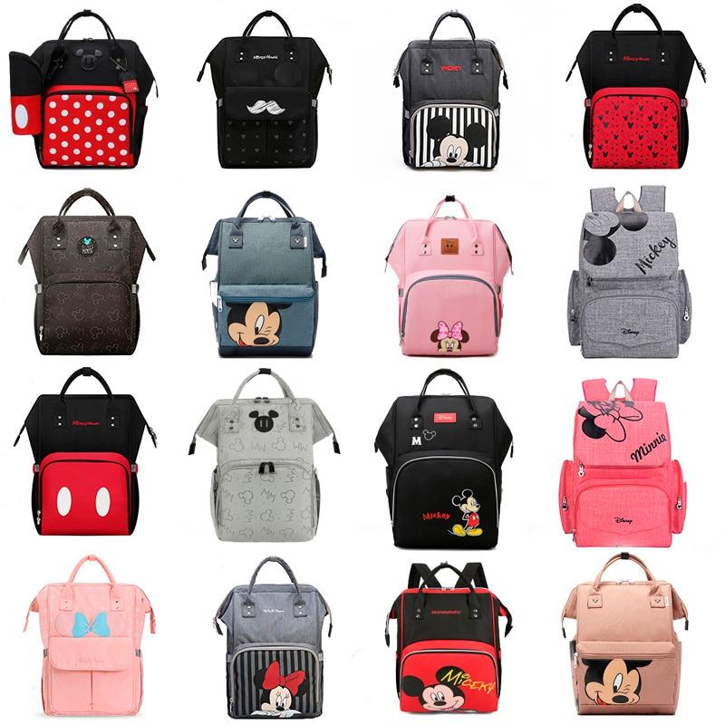 Сумка для подгузников Disney, рюкзак для мам, дорожная сумка для ухода за ребенком с Микки Маусом для малышей, влажная сумка для ухода за ребенк...