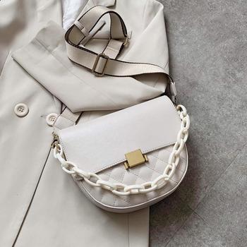 Small PU Leather Crossbody Bags For Women 2020 Saddle Bag Shoulder Handbags Female Travel Lady Fashion Crossbody Bag