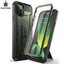 """Para o iphone 11 pro caso 5.8 """"(2019) sucase ub pro corpo inteiro áspero coldre caso capa com built in protetor de tela & kickstand"""