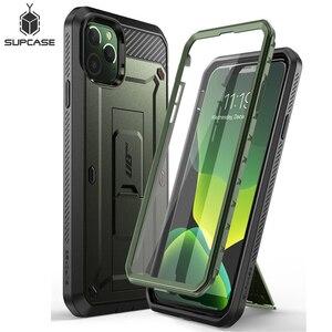 """Image 1 - Para o iphone 11 pro caso 5.8 """"(2019) sucase ub pro corpo inteiro áspero coldre caso capa com built in protetor de tela & kickstand"""
