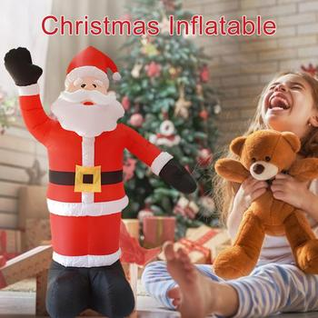 Christmas Inflatable Santa Claus Ornaments Garden Arrangement Decoration for Costume Cosplay Party