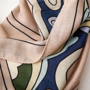 Image 5 - Baumwolle Frauen Lange Schals Weiche Frühling dame Viskose Strand Tücher Dünne Sommer Mode Weibliche Wraps Muslimischen Kopf Hijabs