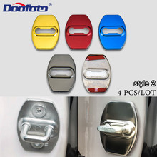 Car styling Accessories Car Door Lock Cover Case stainless steel For Mazda Honda Toyota CHR Alphard Emblems Door Handle Stickers