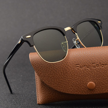 Glass lens Classic retro sunglasses men women Luxury Brand Design Goggles Elegan