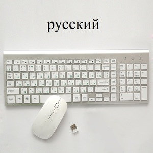 Image 5 - 2.4G Wireless Thin Keyboard and Rechargeable Mouse Combo English/Russian letters Keyboard set Silent key For Computer laptop PC