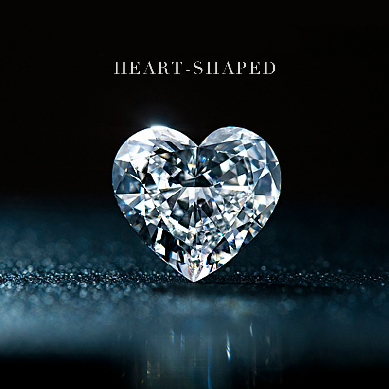 U.S. D-COLOR Special-shaped Peach Heart-shaped Morsonite Diamond Ring Female 1 Carat Inlaid With Nude LOOSE Stone