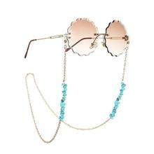 Fashion Irregular Blue Stone Beads Glasses Chain Women Sunglasses Rope Eyeglasses Lanyard Strap Cord