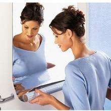2 размера Зеркальная Наклейка на стену прямоугольная самоклеющаяся наклейка для декора комнаты художественная ПВХ водостойкий с зеркалом домашняя ванная Наклейка на стену