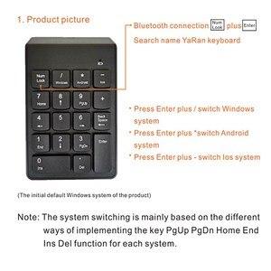 Image 4 - דיגיטלי מקלדת Bluetooth חדש נייד מיני מספר מקלדת נומרית USB 18 מפתחות עבור משרד חשבונאות מגדת מחשב נייד מחשב WIN10